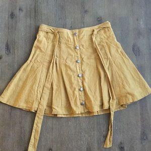 Mustard yellow preppy skirt